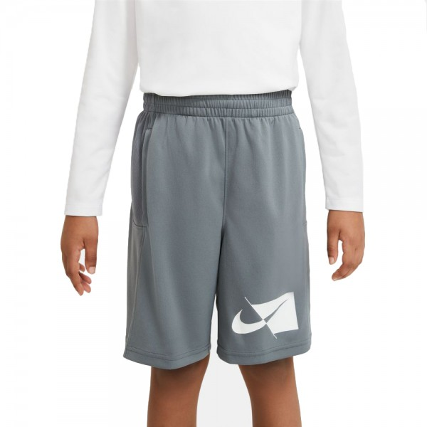 Nike Dri-FIT Trainingsshorts Kinder grau weiß
