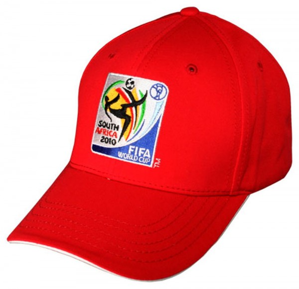 Fußball Fankappe WM 2010 Südafrika Logo Cap rot
