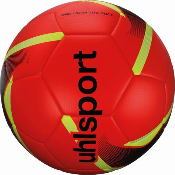 Uhlsport Fußball 290 Ultra Lite Soft Trainingsball Kinder rot schwarz gelb