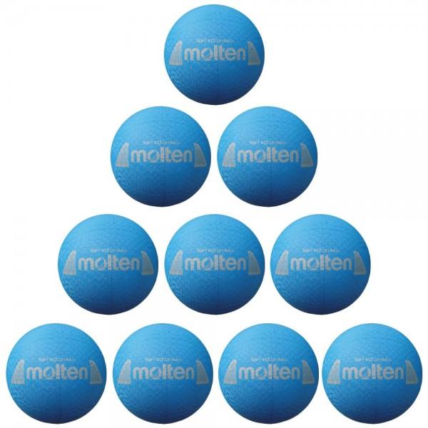 Molten S2Y1250-C Volleyball Softball blau 160g 10er Paket