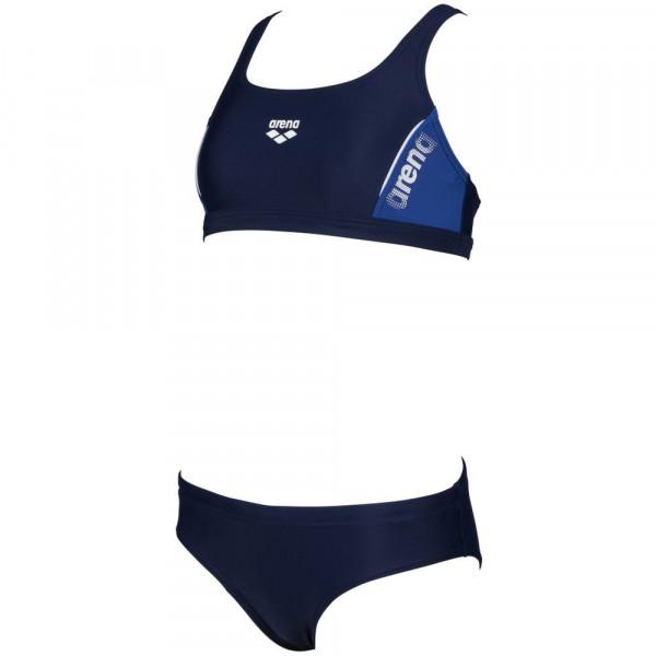 Arena Mädchen Thrice Jr Two Pieces Bikini navy blau weiß