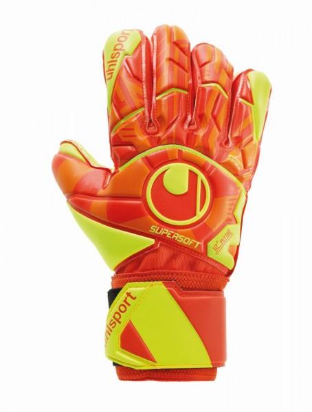 Uhlsport Fußball Dynamic Impulse Supersoft Torwart Handschuhe Herren orange gelb
