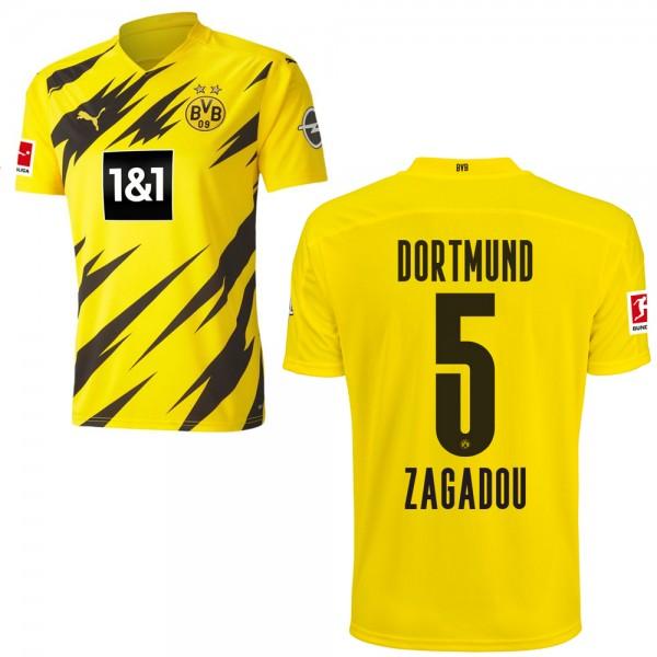 Puma Borussia Dortmund Heimtrikot 2020 2021 Herren Dan-Axel Zagadou 5