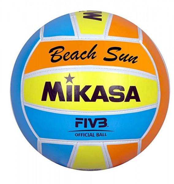 Mikasa Volleyball Beachvolleyball Beach Sun Ball Spielball Größe 5 orange blau gelb