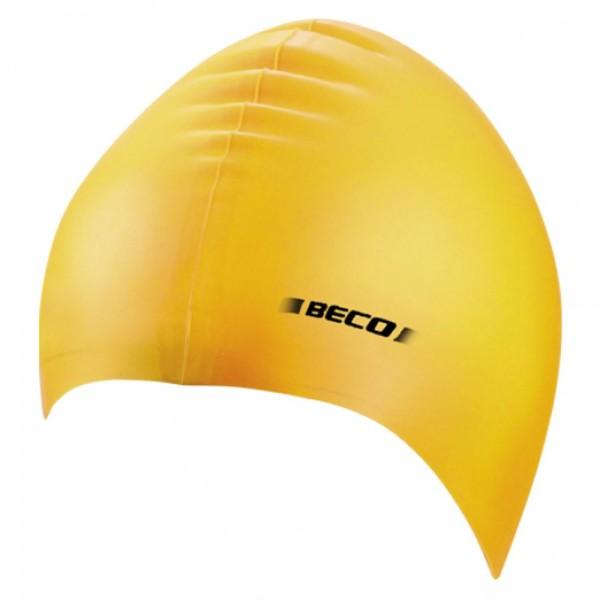 Beco Wassersport Silikon Schwimmhaube Schwimmkappe Badekappe Schwimmmütze Herren Frauen gelb