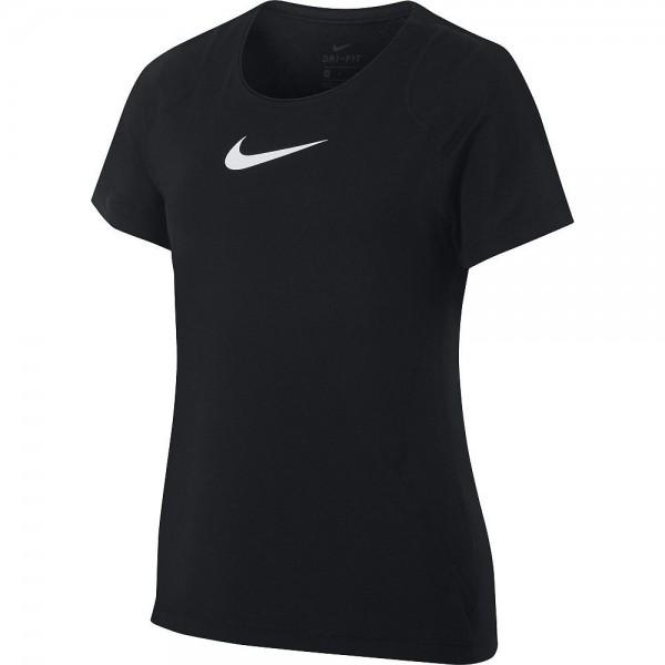 Nike Pro Kinder T-Shirt Mädchen schwarz weiß