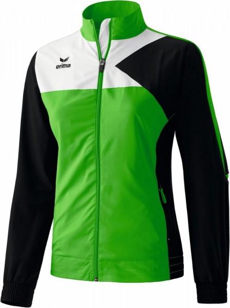 Erima Fußball Präsentationsjacke Premium One Frauen Sport Jacke grün schwarz weiß