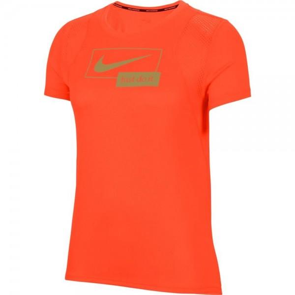 Nike Damen Icon Clash Laufshirt orange gold