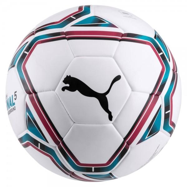 Puma FINAL 5 Hardground Fußball weiß rosa hellblau Gr 5