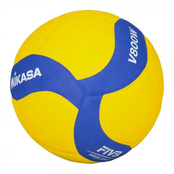 Mikasa Volleyball V800W Freizeitvolleyball Gr 5 gelb blau