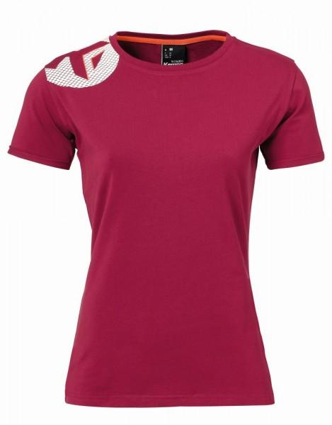 Kempa Handball Core 2.0 T-Shirt Damen Freizeit Kurzarmshirt Baumwolle dunkelrot