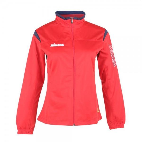 Mikasa Volleyball Trainingsjacke Damen rot navy weiß