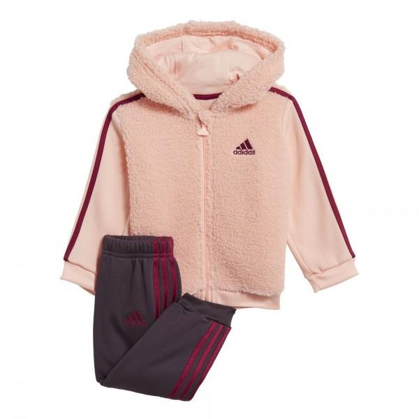Adidas Fur Full-Zip Hooded Jogginganzug Kleinkinder coral berry