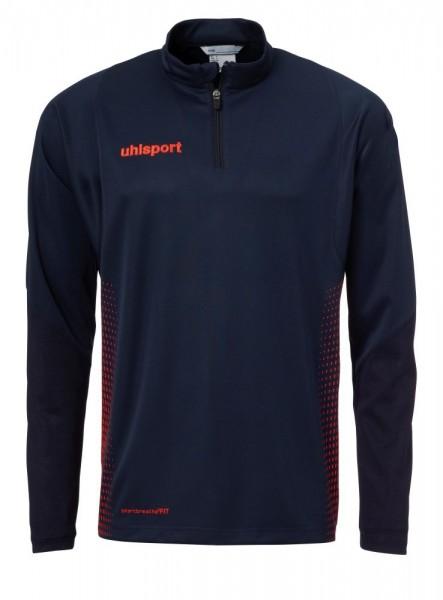 Uhlsport Fußball Score 1/4 Zip Training Top Langarm Kinder Sweatshirt marine rot