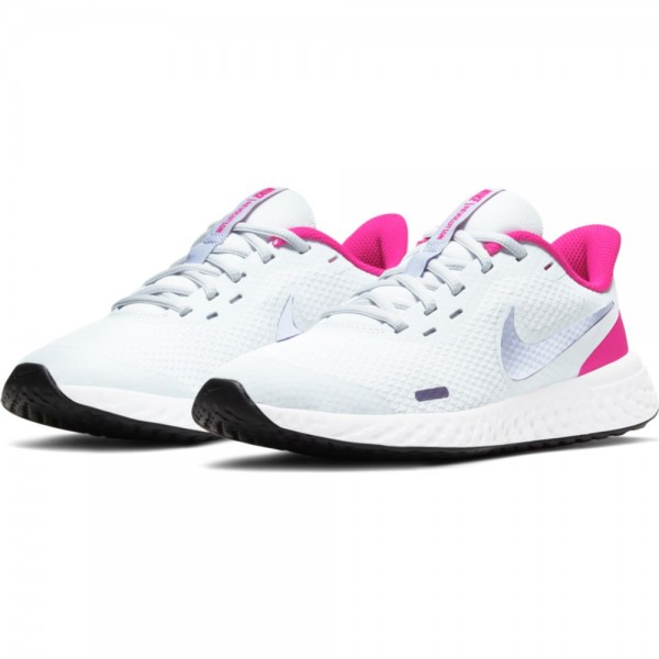 Nike Revolution 5 Laufschuhe Kinder weiß pink