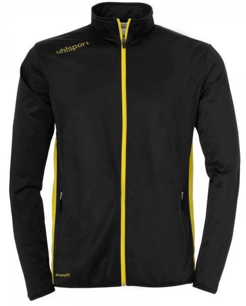 Uhlsport Fußball Kinder Essential Classic Trainingsanzug Jacke Hose schwarz gelb