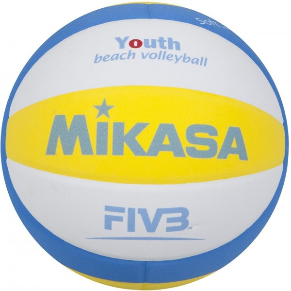 Mikasa Volleyball SBV Youth Beachvolleyball Gr 5 weiß blau gelb