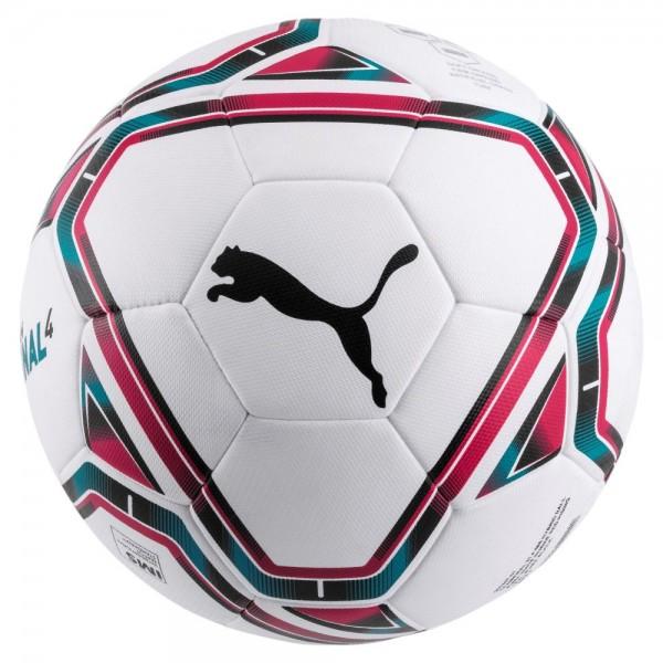 Puma FINAL 4 IMS Hybrid Fußball weiß rosa hellblau Gr 5