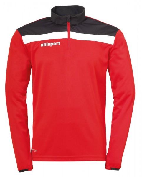 Uhlsport Fußball Offense 23 1/4 Zip Top Herren Sweatshirt rot schwarz weiß