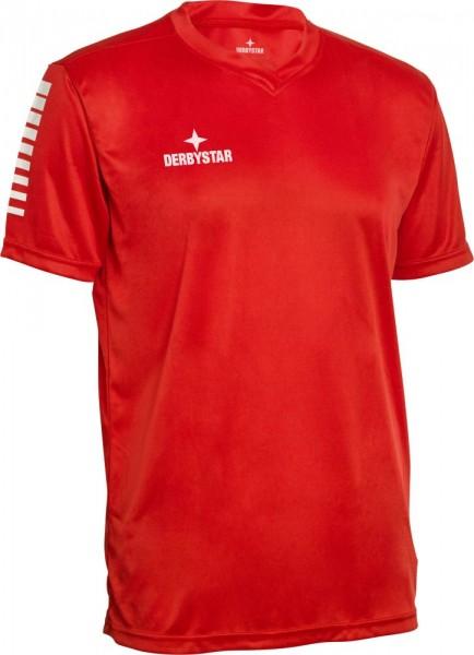 Derbystar Contra Trikot Herren Kinder rot weiß