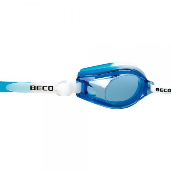 Beco Wassersport Schwimmen Profi Kinder Jugend Schwimmbrille weiß blau