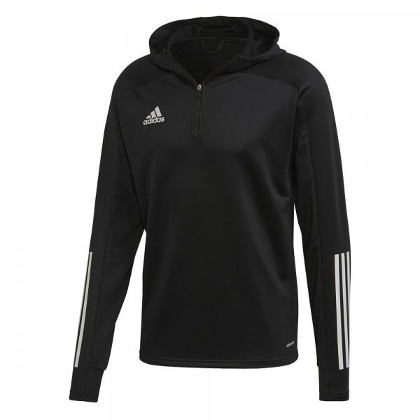 Adidas Fußball Condivo 20 Track Hoodie Pullover Herren Kapuzensweatshirt schwarz weiß