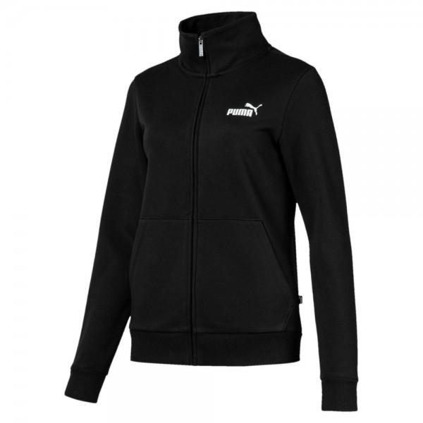 Puma Training Essentials Fleece Trainingsjacke Damen schwarz weiß