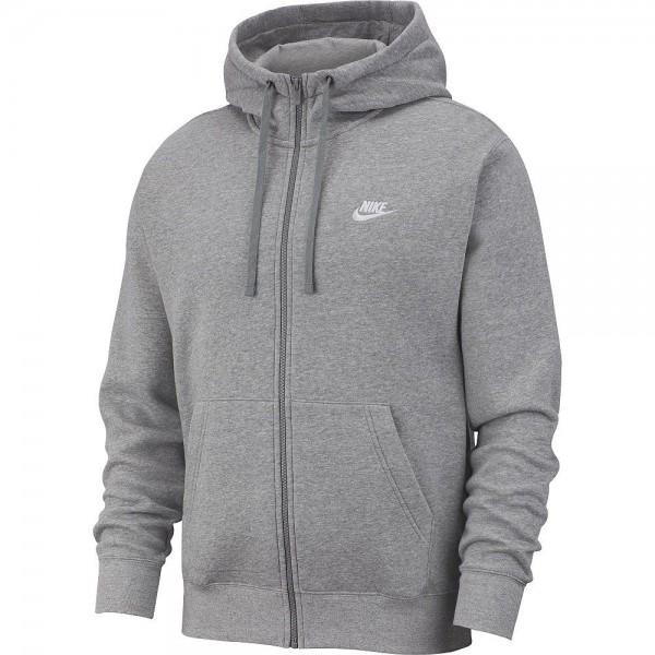 Nike Herren Sportswear Club Fleece Jacke grau weiß
