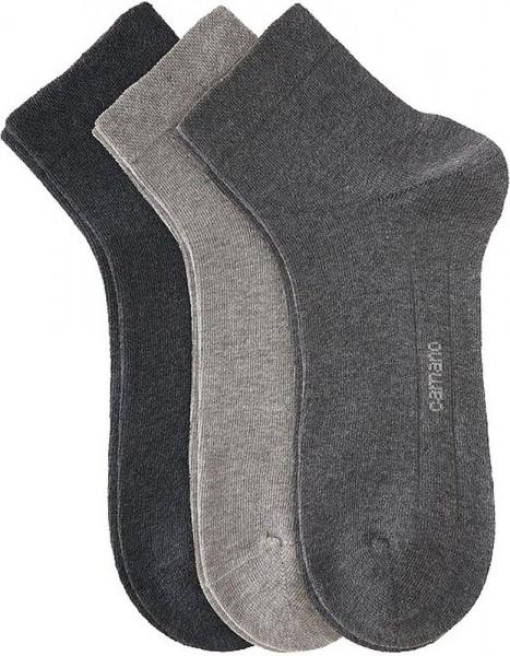Camano Quarter Socken 3 Paar Erwachsene grau