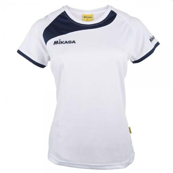Mikasa Volleyball Trikot Damen weiß navy