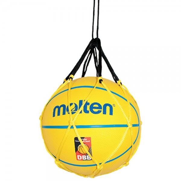Molten Ballnetz für 1 Ball schwarz gelb