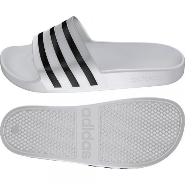 Adidas Fußball Adilette Aqua Slipper Badelatschen Herren weiß schwarz
