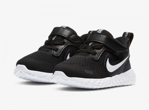 Nike Revolution 5 Schuhe Kleinkinder schwarz grau weiß