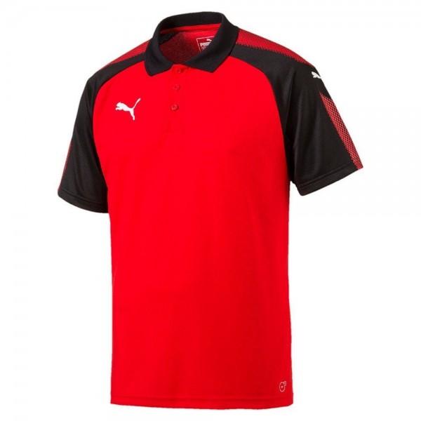 Puma Fußball Ascension Training Poloshirt Herren rot schwarz Polyester