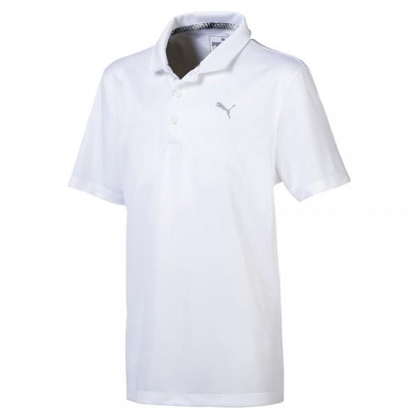 Puma Golf Essential Polo Jungen weiß