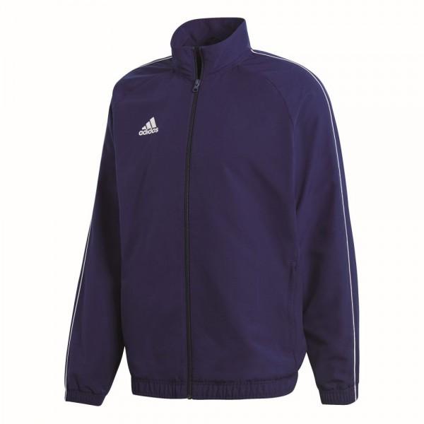Adidas Fußball Core 18 Präsentationsjacke Fußballjacke Kinder dunkelblau