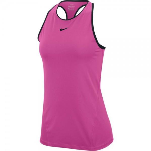 Nike Pro Dri-Fit Tanktop Damen fuchsia schwarz