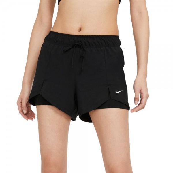 Nike Flex Essential 2-in-1 Trainingsshorts Damen schwarz