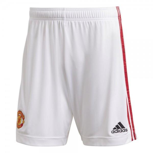 Adidas Manchester United Home Shorts 2020 2021 Herren weiß