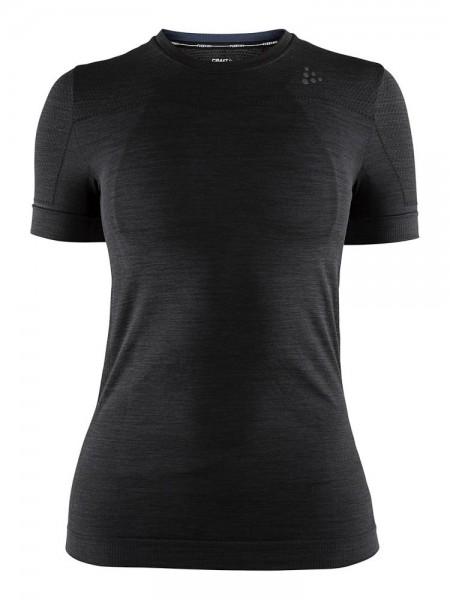 Craft Damen Fuseknit Comfort Baselayer Kurzarmshirt schwarz