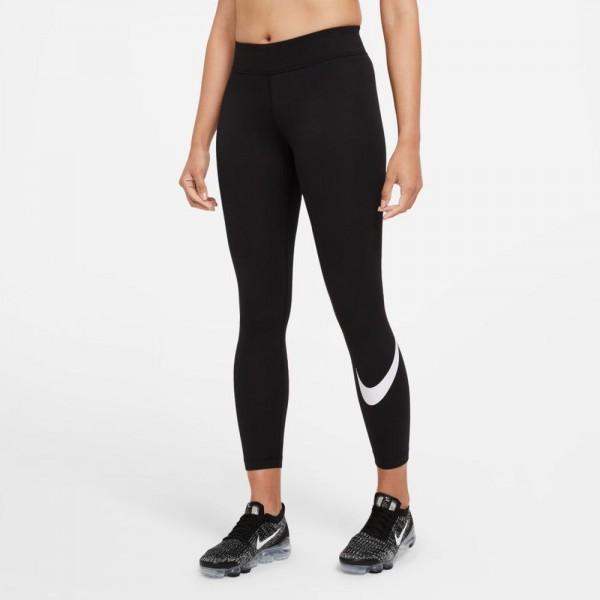 Nike Damen Sportswear Essential Swoosh Leggings schwarz