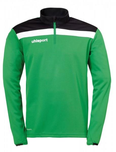 Uhlsport Fußball Offense 23 1/4 Zip Top Herren Sweatshirt grün schwarz weiß