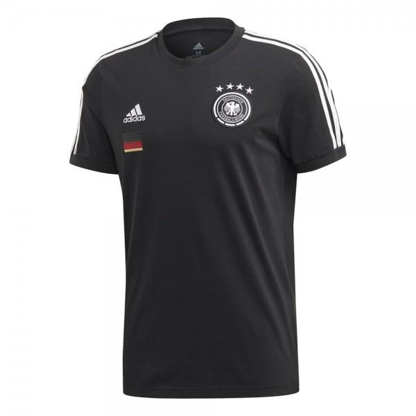 Adidas Deutschland 3 Streifen T-Shirt Herren schwarz