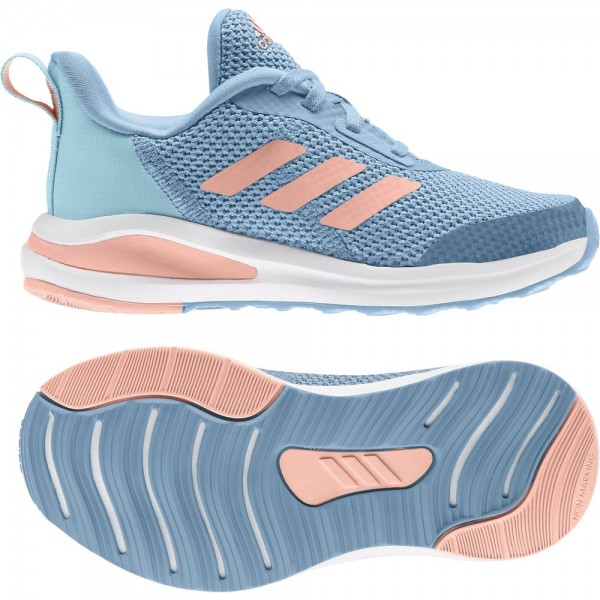 Adidas FortaRun Laufschuhe Kinder hellblau pink