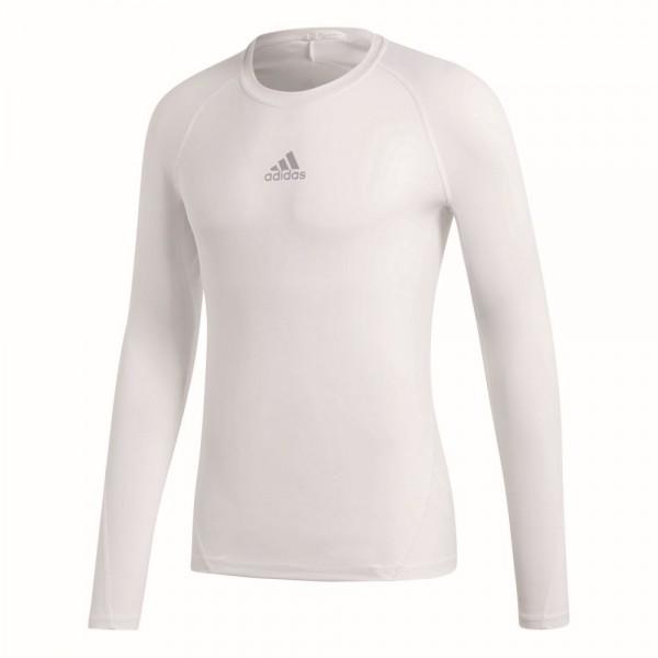 Adidas Fußball Alphaskin Langarmshirt Kinder Unterziehshirt Funktionsshirt weiß