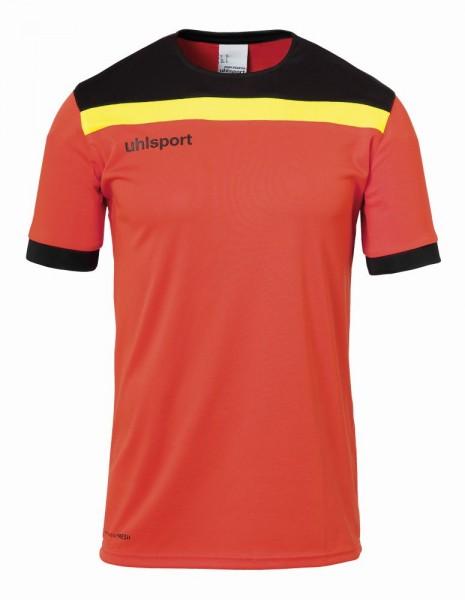 Uhlsport Fußball Offense 23 Goalkeeper Set Kinder Torwartset Kurzarmshirt Shorts orange schwarz gelb