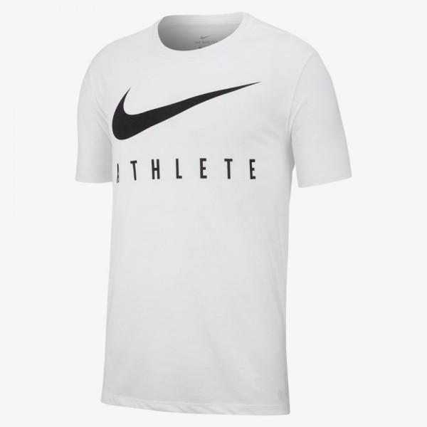 Nike Dri-FIT Trainings-T-Shirt Herren weiß schwarz