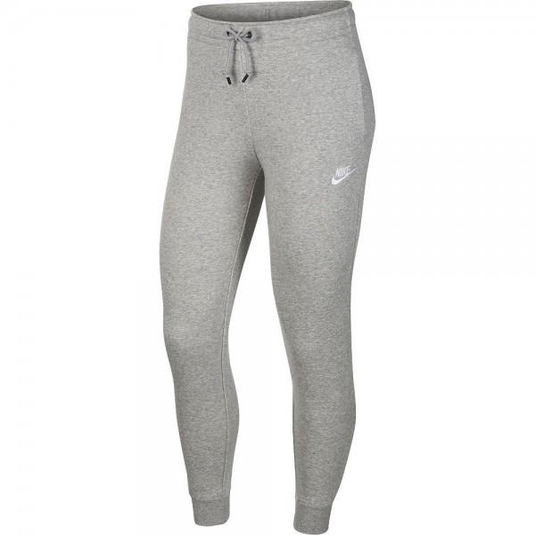 Nike Sportswear Essential Damen Fleecehose grau weiß
