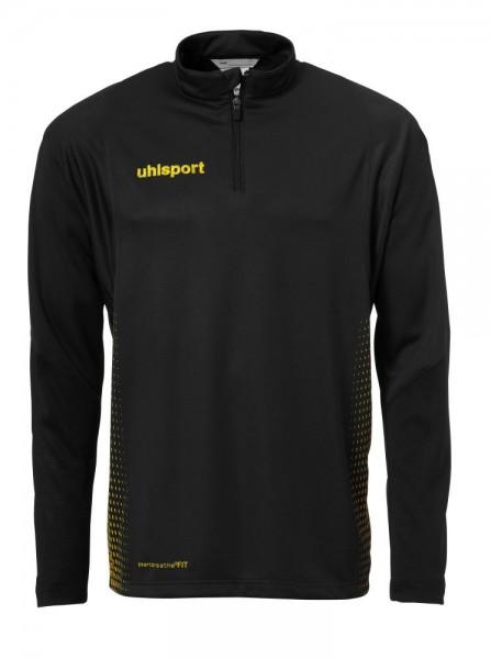 Uhlsport Fußball Score 1/4 Zip Training Top Langarm Herren Sweatshirt schwarz gelb