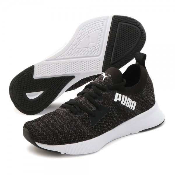Puma Flyer Runner Engineered Knit Laufschuhe Damen schwarz grau